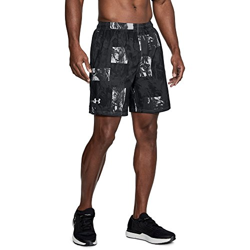 Under Armour Men's Launch SW Printed Shorts, Steel /Reflective, Medium