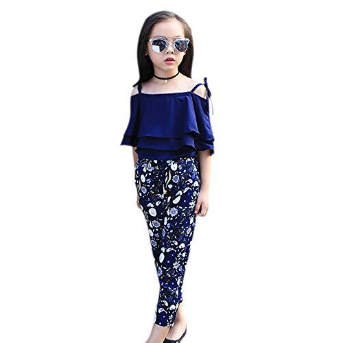 1828524b6cec6 Amazon.com  Nrpfell Clothes Kids Girls Kids Fashion Chiffon Off ...