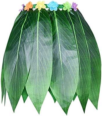 Toyvian Falda de Patrón de Hoja Hawaiana Falda de Baile de Hierba ...