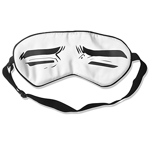 BOBIMU Sleep Mask,Silk Eye Mask For Sleeping,Lightweight Super-smooth Eyeshades For Men/Women,Cartoon Boy Handsome Man Expression Blindfold by BOBIMU