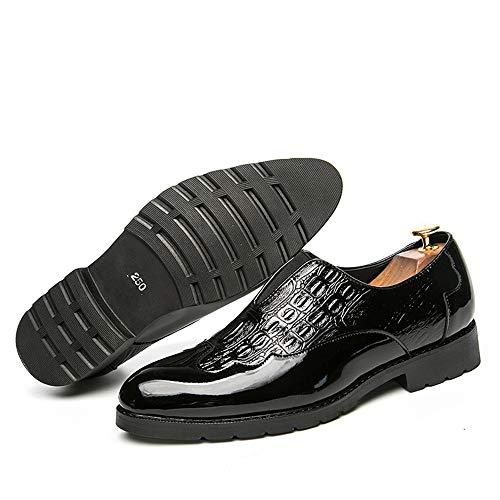 in per vivere classiche camminare EU Color 41 compagnia shoes uomo stampate Nero da traspirante lavoro 2018 in Nero pelle Jiuyue da casa Pelle Scarpe Scarpe Oxford e Uomo stampata Dimensione Tx6Sw