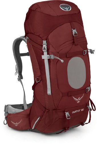 Osprey Men's Aether 60 Backpack, Arroyo Red, Large