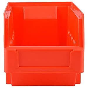 Aadvay Enterprises Red Supra Bin SB 3 (10 PCS of one Pkt)/Automotive, Electronic, Engineering Small Utilities Tools Or Screws Storage Box_ SB 3 Red