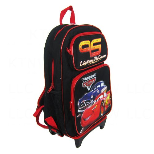 - Officially Licensed Disney Pixar Cars Child Size Convertible Three Zipper Pocket Backpack - Lightning McQueen and Doc Hudson