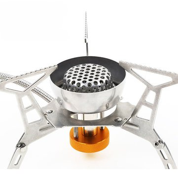 Alfresco Natural Gas Cooking Stove - Portable Outdoor Gas Stove Stainless Steel Split Type Windproof Furnace Burner - Out-Of-Door Gasolene Range Flatulence Accelerator Pedal - 1PCs