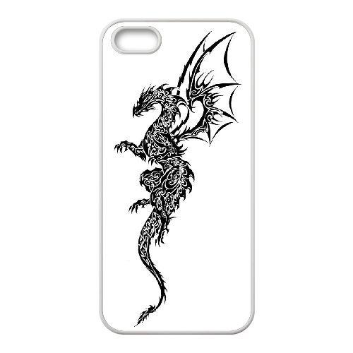 Dragon Tribal 005 coque iPhone 5 5S Housse Blanc téléphone portable couverture de cas coque EOKXLLNCD19633