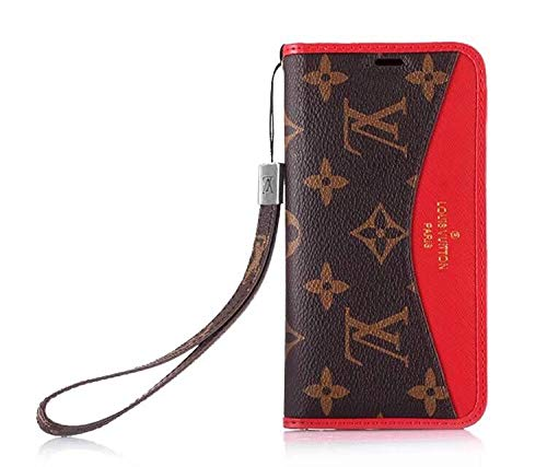 Phone Case for iPhone 7Plus 8Plus, Classic Elegant Luxury Fashion Designer Wallet Case with Lanyard and Card Holder Cover iPhone 7Plus 8Plus - US Fast Deliver Guarantee - Louis Iphone Vuitton Case Wallet