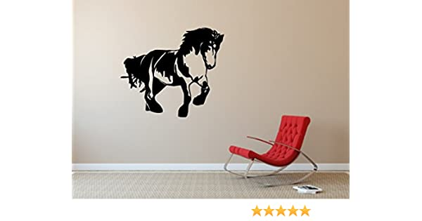 blattwerk-design pared adhesivo, diseño:sangre fría, caballo ...