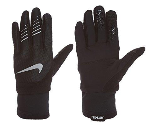Elite Mens Black Gloves (Nike Men's Therma fit Elite Run Gloves 2.0,Med(Black/Silver))