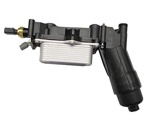 - 68105583AF New Engine Oil Filter Cooler Housing Assembly Complete Kit With Temp Sensors, Bypass Valve, Spring, Filter & Gaskets Repl.#68105583AA Fit for Jeep Dodge Chrysler Ram 3.6 V6