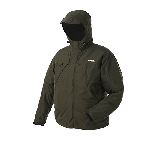 Frabill F1 Rainsuit Jacket, Dark Forest Green, X-Large
