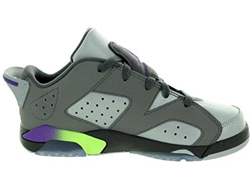 Nike Mädchen Jordan 6 Retro Low GP Turnschuhe Gris / Morado (Drk Gry / Ultrvlt-Wlf Gry-Ghst G)