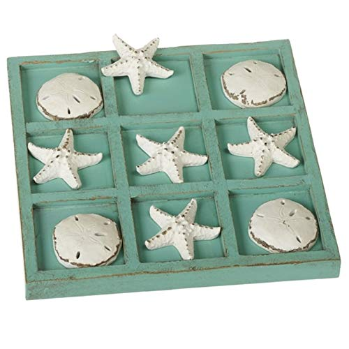 Midwest CBK Decorative Sea Shell Tic-Tac-Toe Game Set with 9