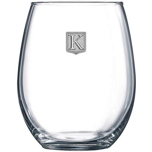Engraved Wine Glass - Premium Monogrammed Stemless Wine Glass -