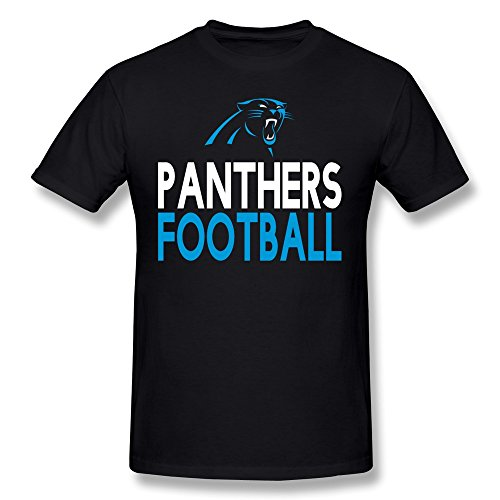 AnneLano Men's Panthers Football Tshirt XX-Large Black