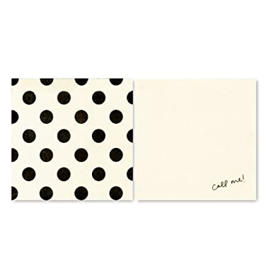 Kate Spade Cocktail Napkins - Black Dots, Set of 40