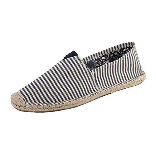 Solide des Respirent Mode Couleur La Pêcheur Chaussures paresseuses est de de de Bande Décontractées de Basses Chaussures Mince Chaussures Bleue Toile Les de de Toile Couleur d'été zRq8BwwO