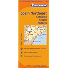 Michelin Spain: Northeast, Catalunya, Aragon, Andorra / Espagne: Nord-Est, Catalogne, Aragon, Andorre Map 574