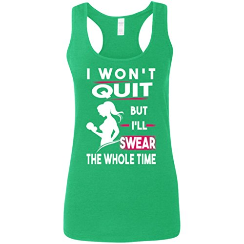 Anna Printed Silk Dress (I Won't Quit Swear The Whole Time Girl Tank Top - Tank Top for Women - Women Tank Top - Running Tank Top - Activities - Outdoor - Gift for Women, Her - Nice Gift)