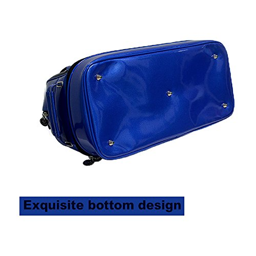 PLAYEAGLE New Arrival Double-layer Men's Golf Duffel Bag PU Smooth Golf Bag for Travel Women Waterproof Boston Bag with Shoe Pocket by PLAYEAGLE (Image #3)