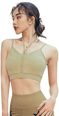 レディースジャージ上下セット 女性スポーツハイインパクトトレーニングジムスポーツウェアブラ (Color : Green, Size : S)