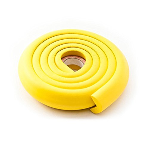 2M Guard Protector Safety Corner Guards With Adhesive NBR Foamed Softener Edge Cushion Strip Soft Foamed Good Elasticity for Kids Child (Yellow)