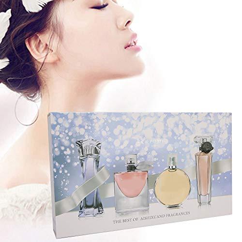 4pcs Women Perfume Set, Naturally Mild Non‑irritating Long‑Lasting Perfume Lady Parfum Spray