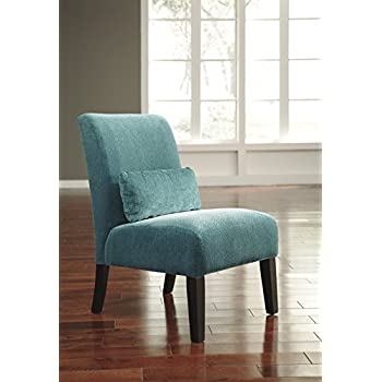 Anora Fabric Armless Contemporary Accent Chair; Teal  sc 1 st  Amazon.com & Amazon.com: Anora Fabric Armless Contemporary Accent Chair; Teal ...