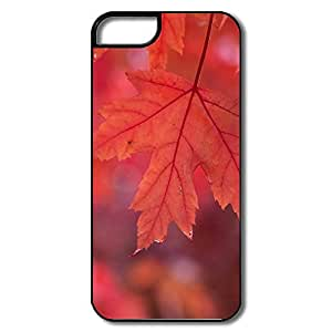 IPhone 5 5S Cover, Red Autumn White/black Case For IPhone 5S