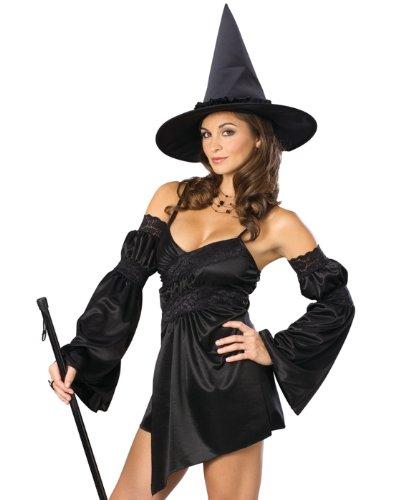 Secret Wishes  Costume Naughty Cauldron Witch Costume, Black, Medium (Naughty Dress Up Costumes)