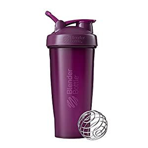 Well-Being-Matters 41uls2VnxoL._SS300_ BlenderBottle Classic Shaker Bottle Perfect for Protein Shakes and Pre Workout, 28-Ounce, Plum