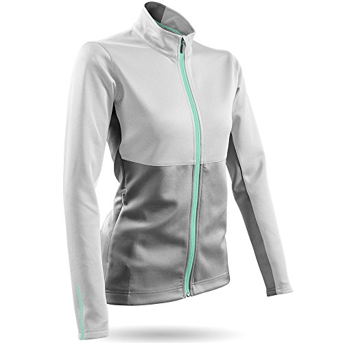 Sun Mountain ThermalFlex Golf Jacket 2016 Womens White/Grey/Ice Large ()