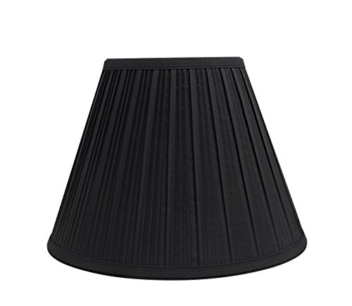Aspen Creative 59127 Transitional Pleated Empire Shape UNO Construction Lamp Shade in Black, 12