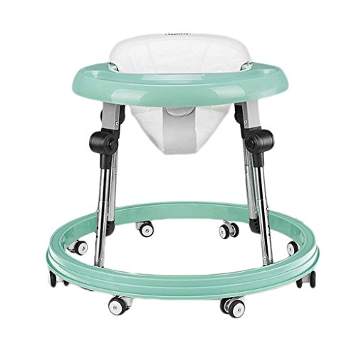 Baby Walkers With Wheels Multi-Function Child Anti-Rollover Baby One-Touch Folding Learn To Drive 3Rd Gear Adjustable,Blue