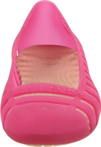 Crocs Womens Adrina II Flat Hot Pink/Gold ljLay