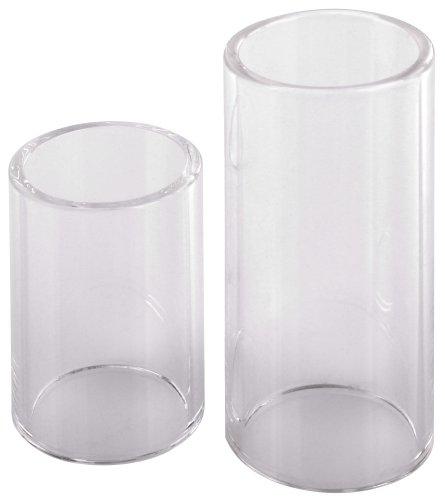 Rocktile Glass Slide (Bottleneck) Pair Consisting of 4 cm and 6 cm (Bottleneck Glass Slide)