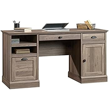 Amazon Com Sauder Edge Water Computer Desk Estate Black