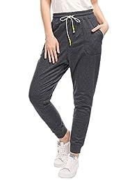 Allegra K Women's Slant Pockets Drawstring Waist Jogger Pants