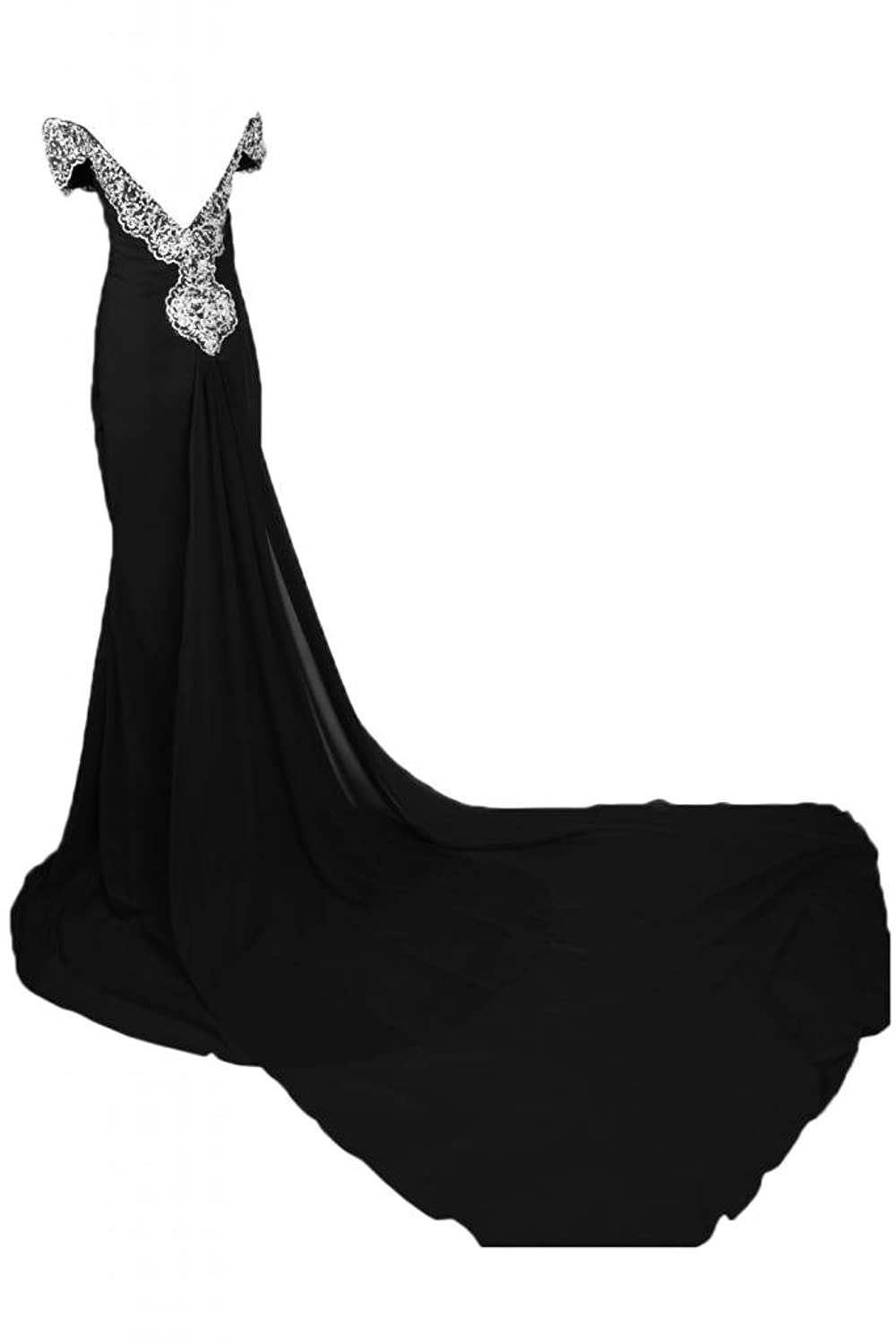 Sunvary Romantic Off-the-shoulder Neckline Evening Dress Maxi Pageant Dresses for Ladies
