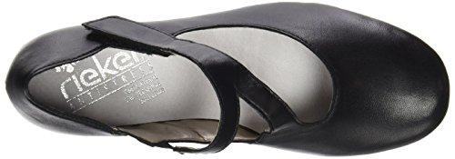 Rieker 41793 - Zapatos de Tacón Mujer Negro (Schwarz / 00)