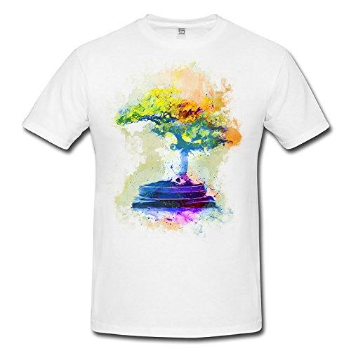 Bonsai Herren T- Shirt , Stylisch aus Paul Sinus Aquarell Color