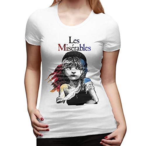 Boaioaew Women's Les Miserables Short Sleeve T-Shirt White XXL ()
