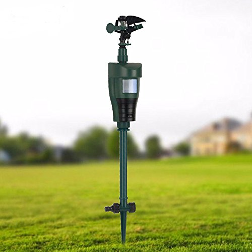Garden Animal Repeller Scarecrow Pest Control Jet Spray Repellent Driving Small Animals Expellent