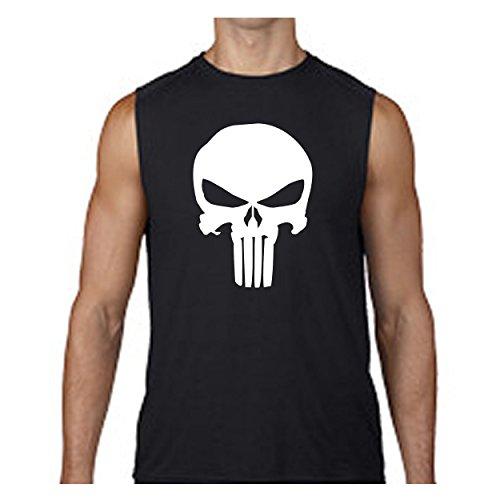 Lifestyle Graphix The Punisher Skull - Military Outdoor - Alter EGO Sleeveless T Shirt - ()
