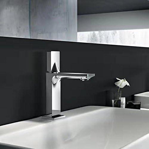 Inchant 2017 New Modern Single Handle Chrome Brass Bathroom Vanity Sink Faucet Widespread Deck Mount Lavatory Bathtub Vessel Faucets Basin Mixer Tap - Brass Body Handle Single Hole Laundry Faucet