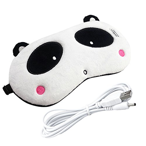 CORALTEA Heated Eye Mask Electric Heating Hot Steam Compress Aromatherapy Cartoon Animal Eye Cover[USB Charging - Goggles Hot