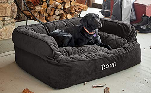 - Orvis Comfortfill Couch Dog Bed/Medium Dogs Up to 40-60 Lbs, Slate