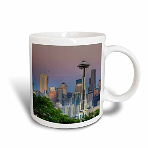 3dRose WA Seattle Skyline From Kerry Park US48 JWI3551 Jamie and Judy Wild Ceramic Mug, 15-Ounce