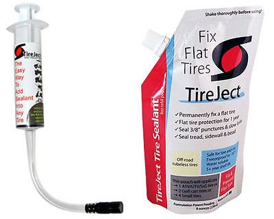 TireJect Tire Sealant - 8oz Tire Repair Kit (Best Tire Sealant - Protect Flat Tires)