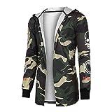 Amlaiworld Men Camouflage Cardigan Coat Hooded